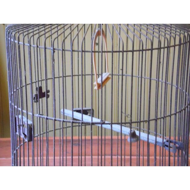 Vintage Metal Bird Cage - Image 3 of 5