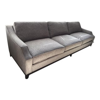 Pewter Fabric Custom Sofa