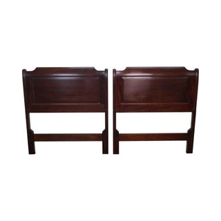 Stickley Solid Mahogany Twin Size Headboards - A Pair