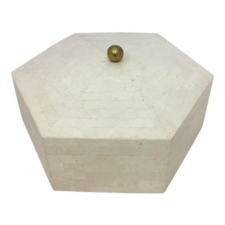 Maitland Smith Tessellated Octagone Box