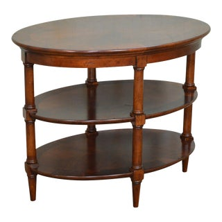 Quality 3 Tier Mahogany Oval Side Table
