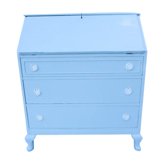 Antique Cottage Style Painted Writing Desk - Image 1 of 5