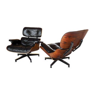 Eames 670 Lounge Chairs - Pair - With Single Ottoman