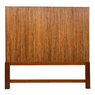 David Francis Pencil Rattan King Headboard