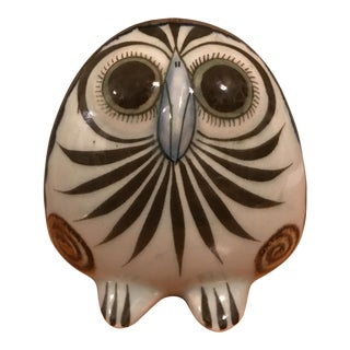 Vintage Hand Painted Pottery Owl