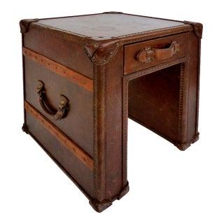 "Hermes Style ""Steamer Trunk"" Side Table"