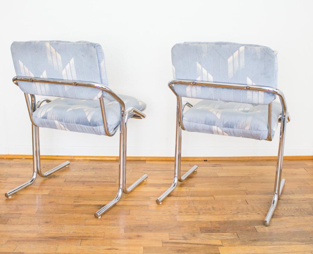 jerry johnson tubular chrome u0026 tufted seat dining chairs set of 6 image 5