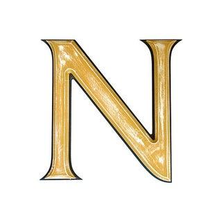 "Large 18"" Vintage Wooden Marquee Letter N"