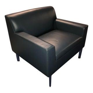 Bernhardt Blue Leather Club Chair