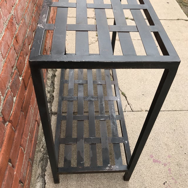 Woven Metal Console Table - Image 6 of 7