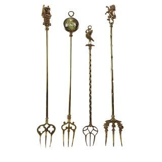 Brass Toasting Forks - Set of 4