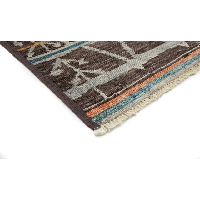 """Image of Moroccan Hand Knotted Area Rug - 4'1"""" X 5'10"""""""