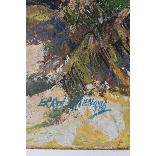 Errol Allen 1986 Jamaican Coastal Scene Painting - Image 4 of 5