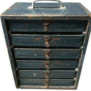 Vintage Industrial Wooden Tool Cabinet