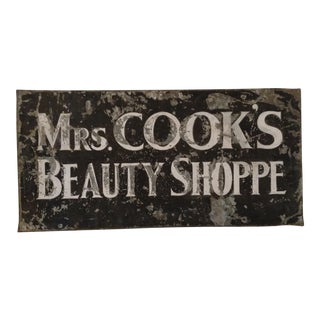 "Vintage Metal ""Beauty Shop"" Sign"