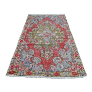 Tribal Anatolian Vintage Rug - 4′1″ × 7′2″