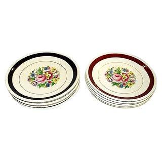 Ironstone Dessert Plates, S/12