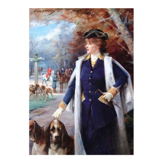 Sarah Bernhardt Hunting with Hounds