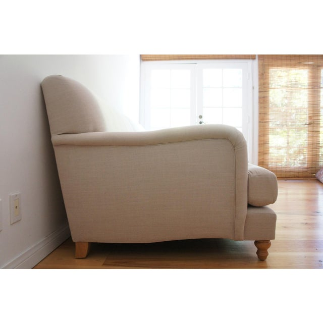 Custom Roll Arm Sofa With Modern Lines - Image 4 of 11