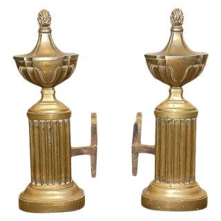 Pair Brass Andirons