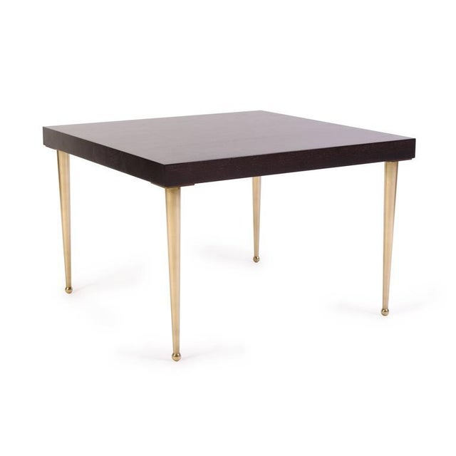 Allister Tables in Ebony Walnut and Turned Brass by Montage - Image 3 of 6