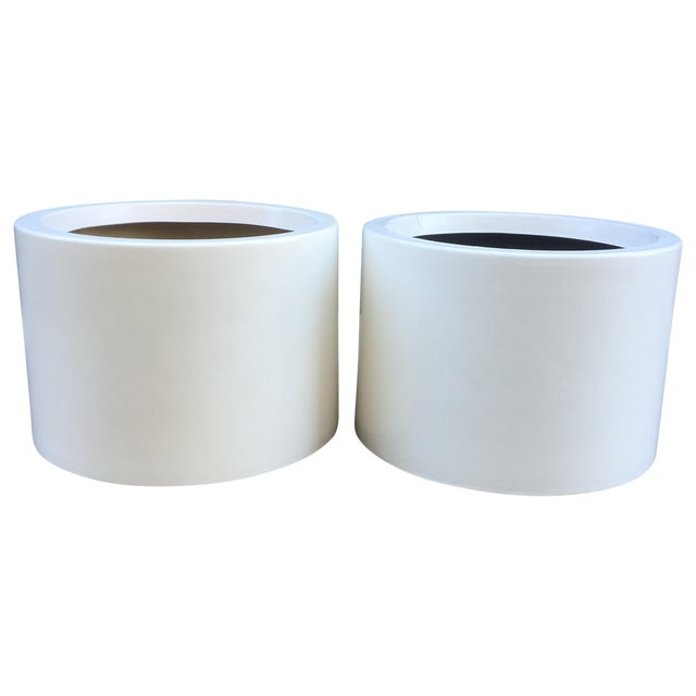 D. Deeds Architetural Fiberglass Planters - A Pair - Image 1 of 5