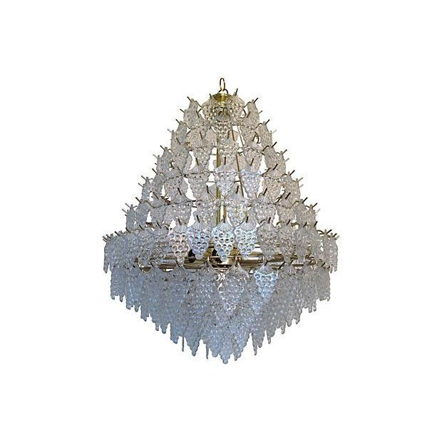 Midcentury Lucite Grapes Chandelier - Image 2 of 3