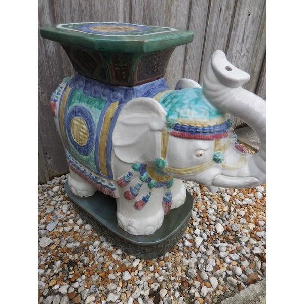 Vintage Elephant Garden Stool - Pair - Image 4 of 7