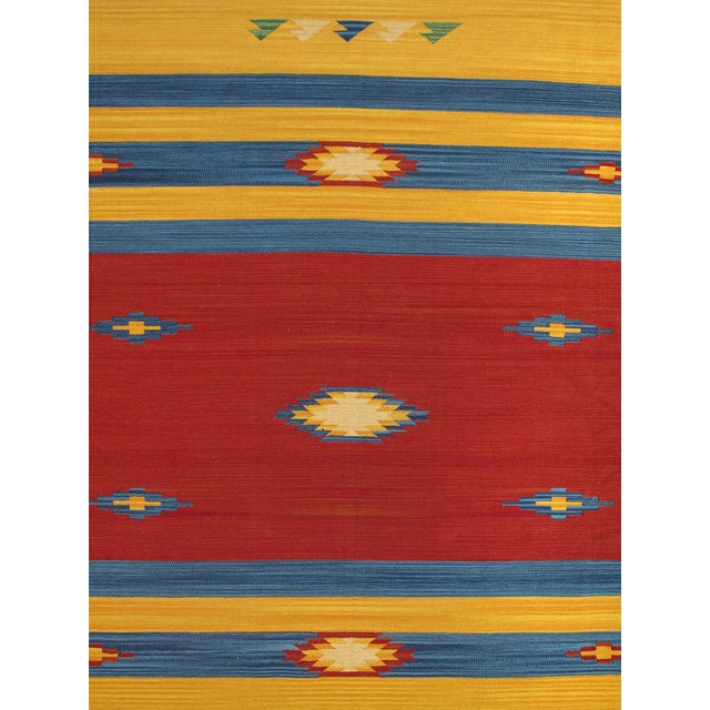 Anatolian Hand-Woven Cotton Rug - 8' X 10' - Image 2 of 4