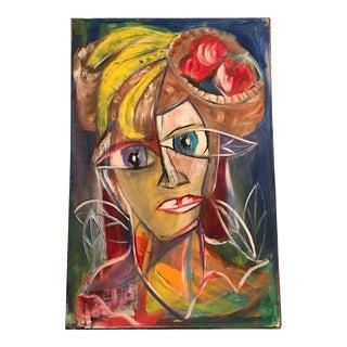 Pablo Picasso Style Painting of Carmen Miranda Art