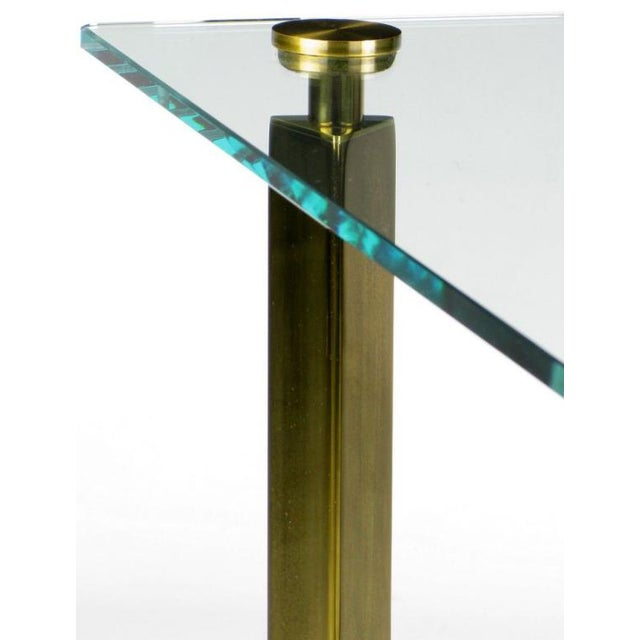 Postmodern Brass And Glass End Table - Image 5 of 6