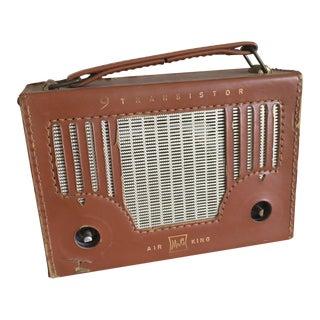 9 Transistor Air King Leather Radio