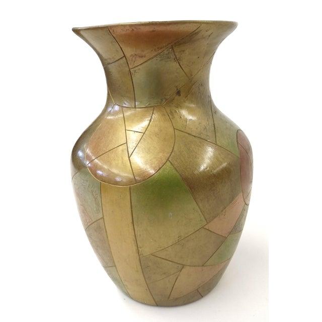 Unique Chinese Vintage Patchwork Ceramic Vase - Image 4 of 9