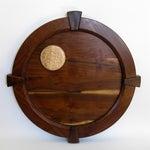 "Image of Full Moon 32"" Round Walnut Medallion"