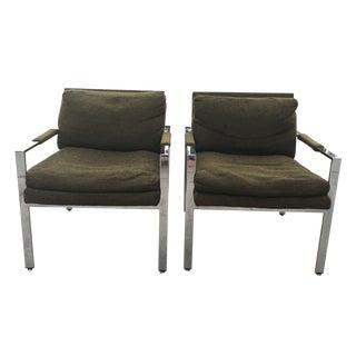 Milo Baughman Thayer Coggin Lounge Chairs - Pair