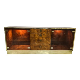 Founders Brass and Burl Credenza