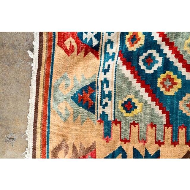 Southwest Flat Weave Rug - Image 6 of 8
