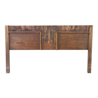 Mid-Century Lane Brutalist King Headboard