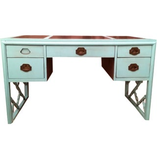 Dixie Chinese Chippendale Faux-Bamboo Desk