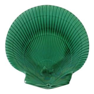 Wedgewood Green Majolica Shell Plate