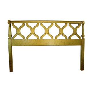 Hollywood Regency Gilt Gold Full Size Headboard