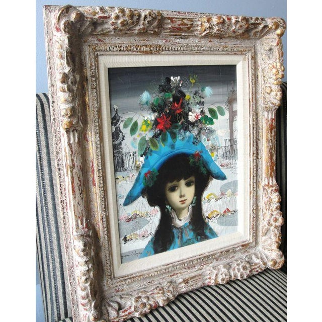 """Jean Calogero Oil Painting """"Arlequine"""" (signed) - Image 5 of 8"""