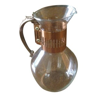 Vintage Copper & Glass Coffee Carafe