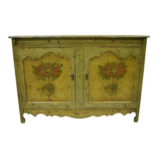 Primitive Rustic French Country Narrow Cabinet