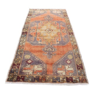 Turkish Anatolian Wool Carpet - 3′10″ × 8′3″