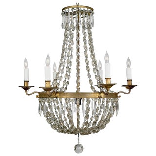 19th Century Antique French Crystal Chandelier