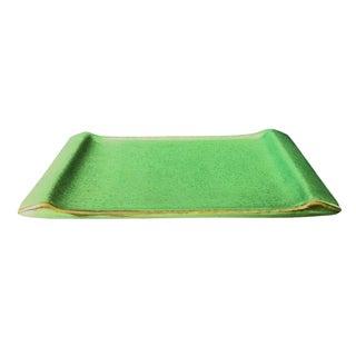 Sculptural Green Tray