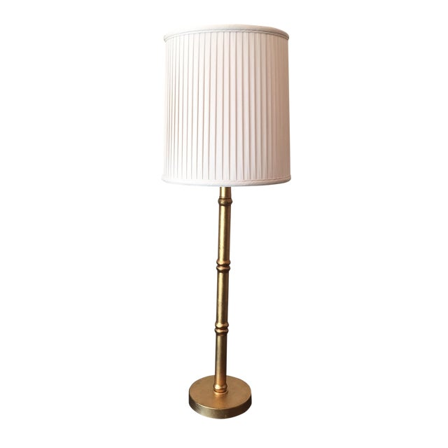 Port 68 Gold Faux Bamboo Table Lamps - A Pair - Image 1 of 6