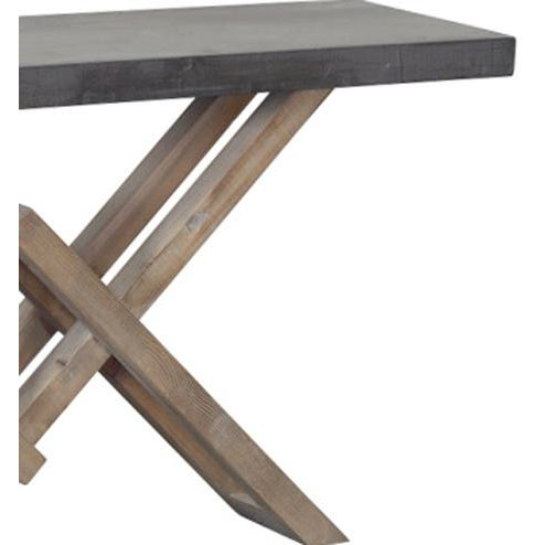 White Pine & Concrete Console - Image 2 of 2