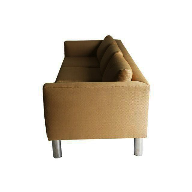 Mid Century Modern Chrome Leg Sofa - Image 6 of 9